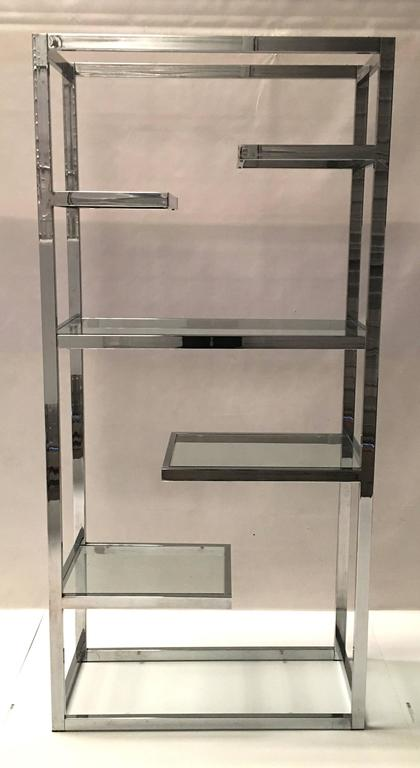 Superb Chrome Etagere by Milo Baughman 2