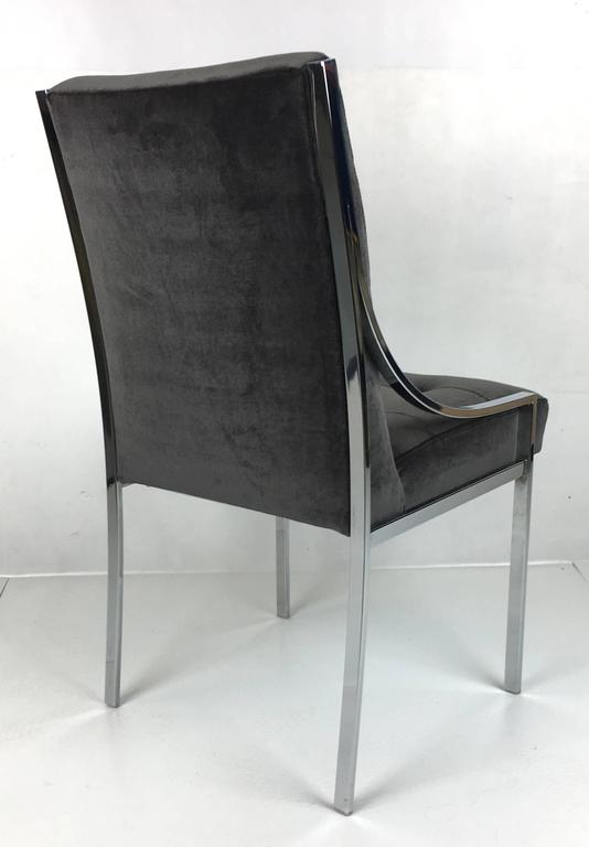 Mint Set of Six Dining Chairs by Pierre Cardin 4