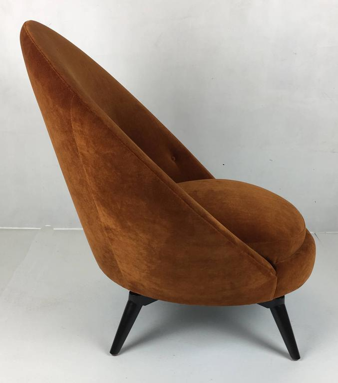 Pair of Royère Style Swivel Egg Chairs 4