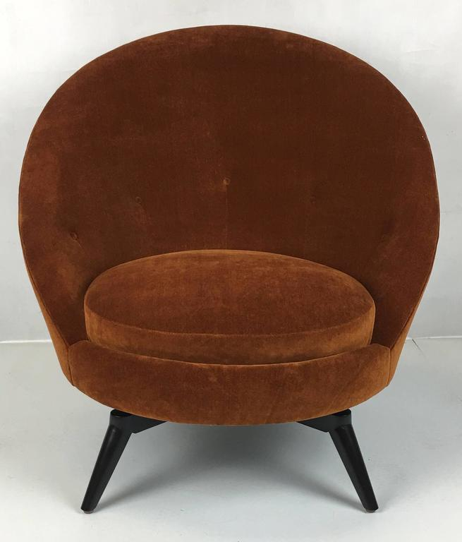 Pair of Royère Style Swivel Egg Chairs 3