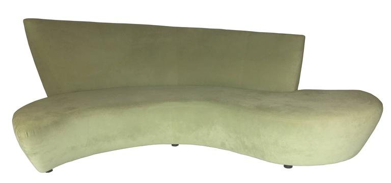 Mid-Century Modern Rare Bookmatched Pair of Bilbao Sofas by Vladimir Kagan For Sale
