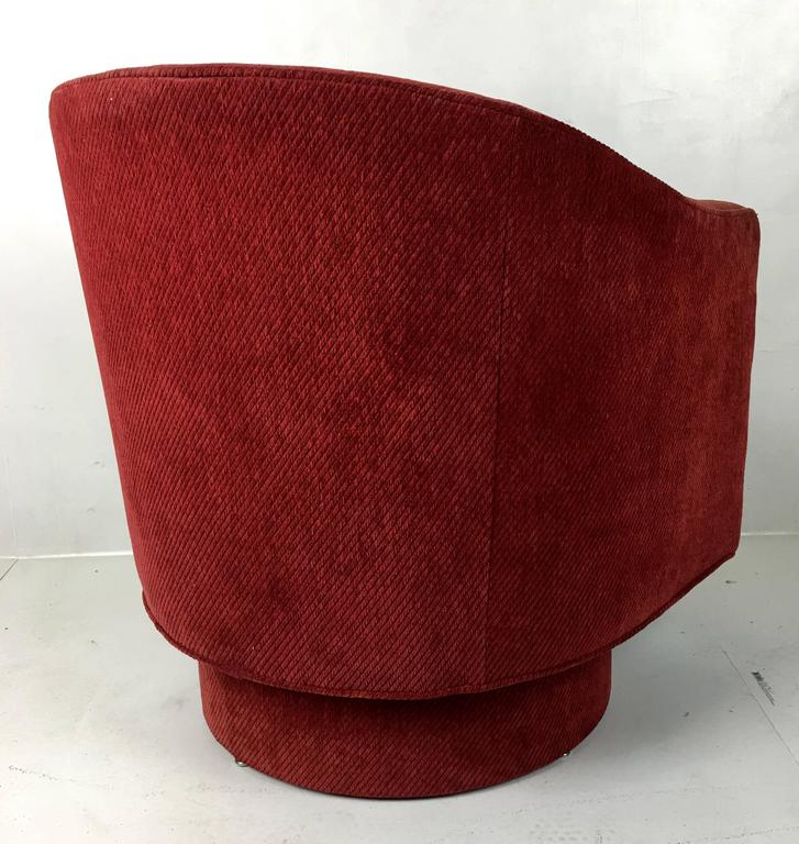 American Barrel Swivel Chair by Milo Baughman For Sale