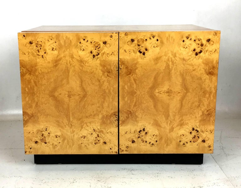 Pair of Olive Burl Nightstands by Lane, in the style of Milo Baughman 3