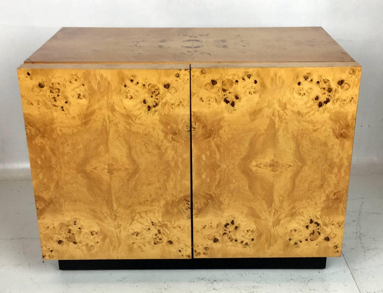 Pair of Olive Burl Nightstands by Lane, in the style of Milo Baughman 4