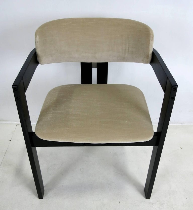 Lacquered Six Italian Modern Dining Chairs For Sale