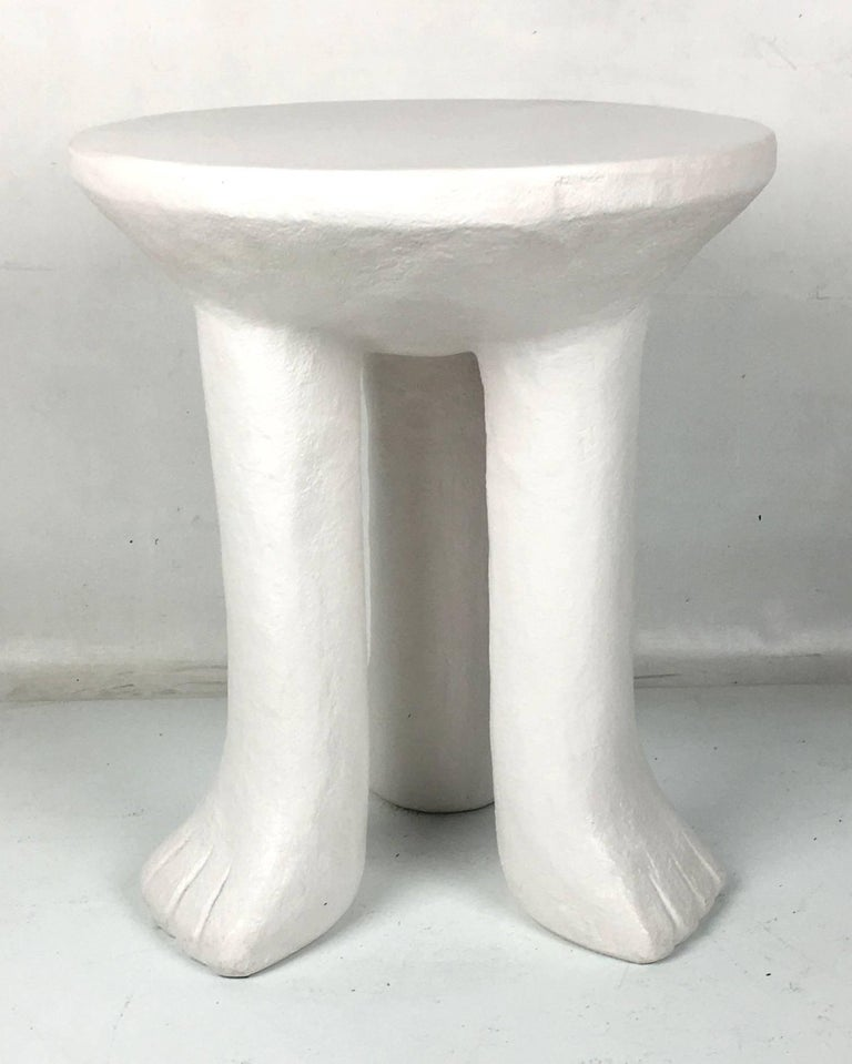 "Plaster ""African"" Side Table in the Style of John Dickinson 2"