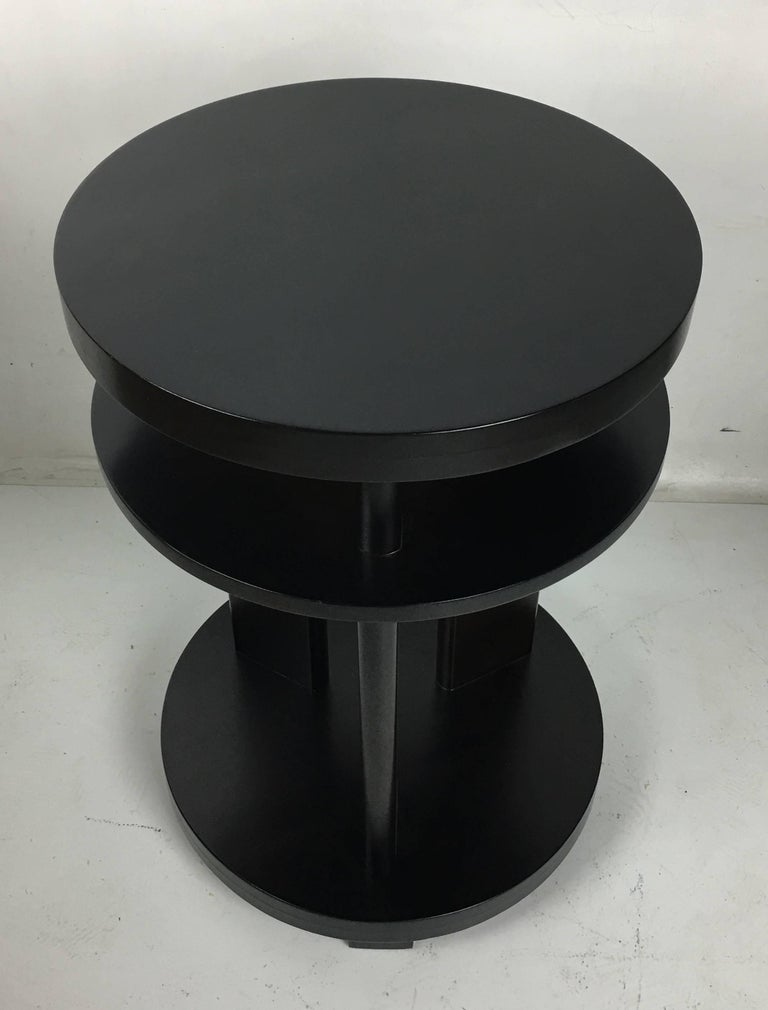 American Pair of Ebonized Mahogany Side Tables by Paul Laszlo For Sale