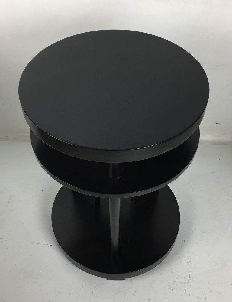 Mid-Century Modern Pair of Ebonized Mahogany Side Tables by Paul Laszlo For Sale