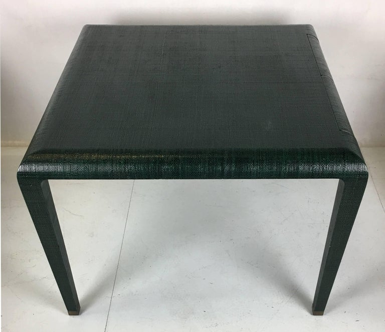 Exceptional Raffia Clad Games Table by Harrison Van Horn In Excellent Condition For Sale In San Leandro, CA