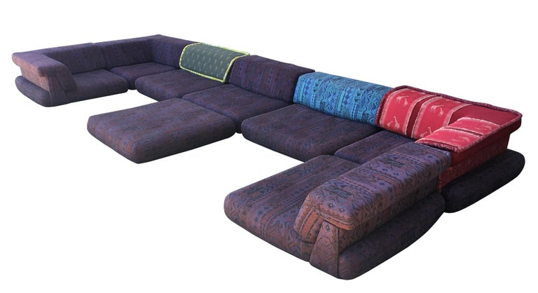 Modern Iconic Mah Jong Modular Sectional Sofa by Roche Bobois, 15 Pieces For Sale