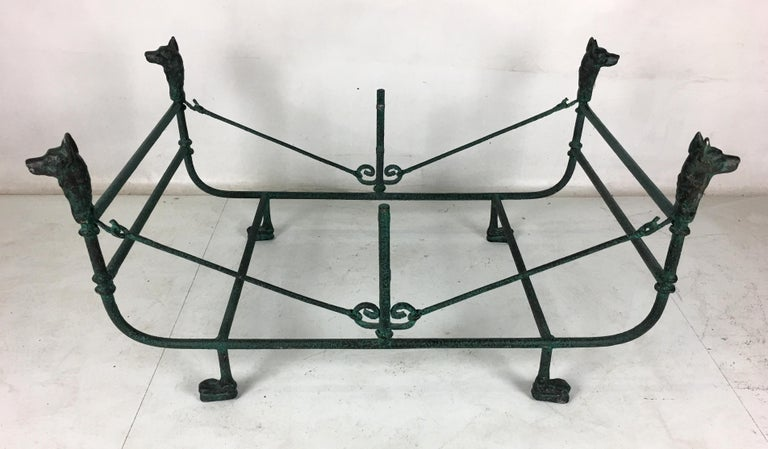 Mid-Century Modern Verdigris Bronze Coffee Table in the Style of Giacometti For Sale