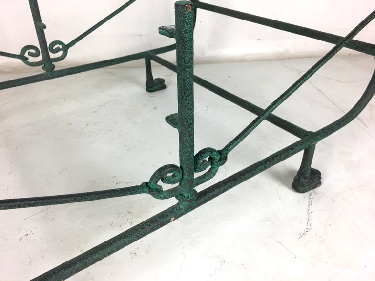 Verdigris Bronze Coffee Table in the Style of Giacometti In Excellent Condition For Sale In San Leandro, CA