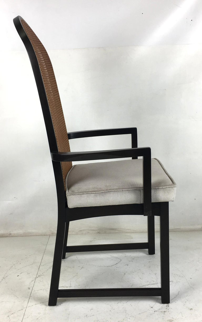 Mid-Century Modern Set of Eight High Back Dining Chairs by Milo Baughman for Directional For Sale