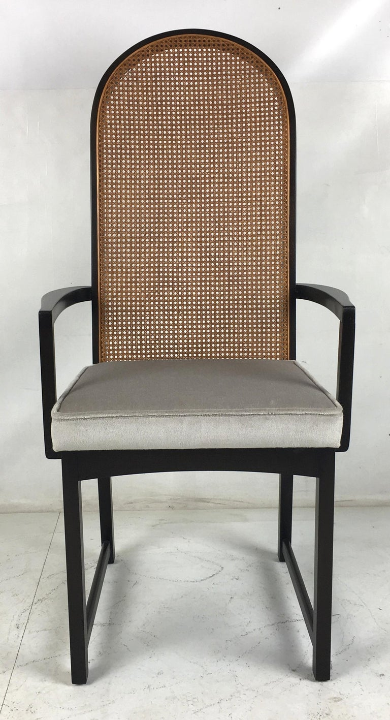 Set of Eight High Back Dining Chairs by Milo Baughman for Directional In Excellent Condition For Sale In San Leandro, CA