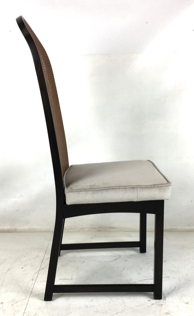 Set of Eight High Back Dining Chairs by Milo Baughman for Directional For Sale 1
