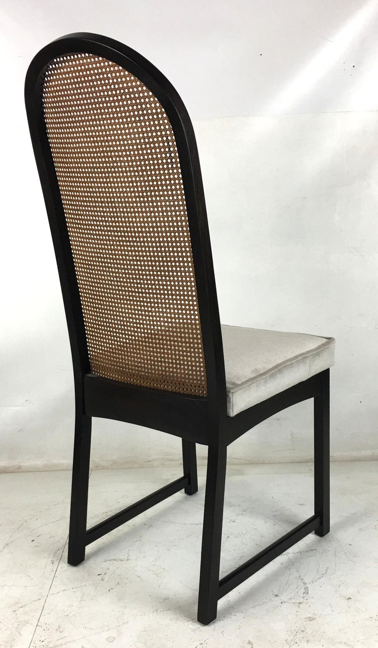 Set of Eight High Back Dining Chairs by Milo Baughman for Directional For Sale 2