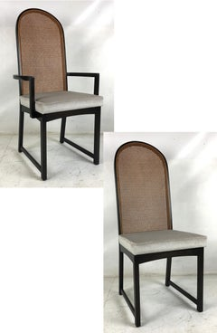 Set of Eight High-Back Dining Chairs by Milo Baughman for Directional