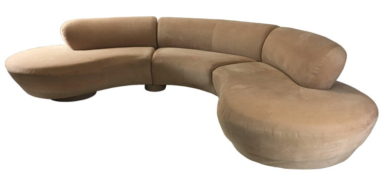 Mid-Century Modern Three-Piece Cloud Sofa Sectional by Vladimir Kagan for Directional For Sale
