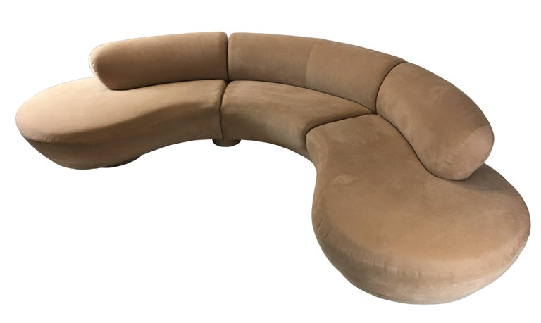 American Three-Piece Cloud Sofa Sectional by Vladimir Kagan for Directional For Sale