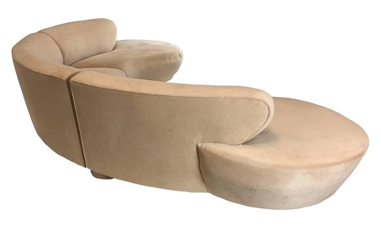 Three-Piece Cloud Sofa Sectional by Vladimir Kagan for Directional In Excellent Condition For Sale In San Leandro, CA