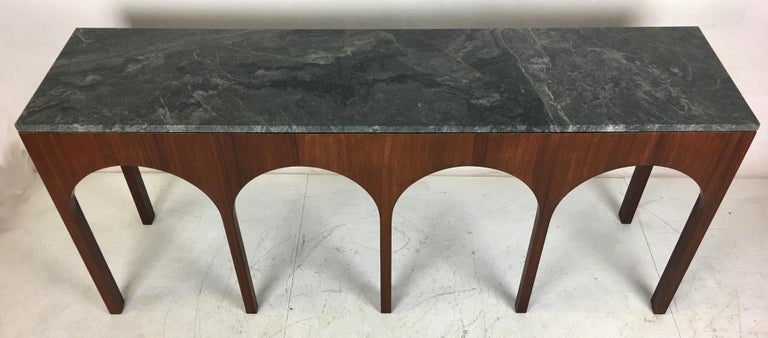 Neoclassical Revival Rare Coliseum Console with Marble Top by T.H. Robsjohn-Gibbings For Sale
