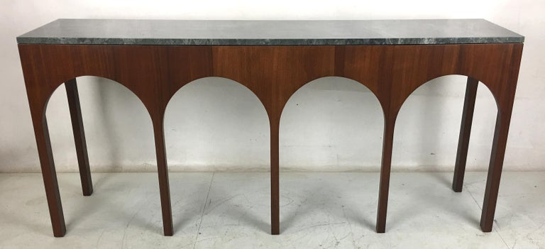 American Rare Coliseum Console with Marble Top by T.H. Robsjohn-Gibbings For Sale