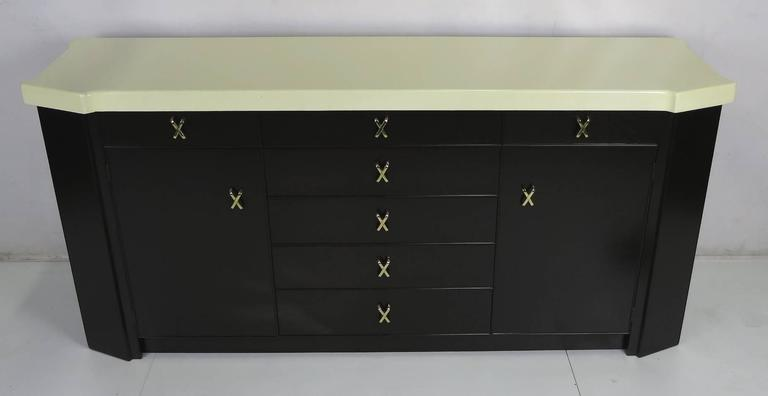 Meticulously restored cork top buffet with brass