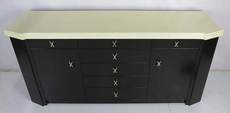 Modern Fine Cork Top Sideboard by Paul Frankl for Johnson For Sale