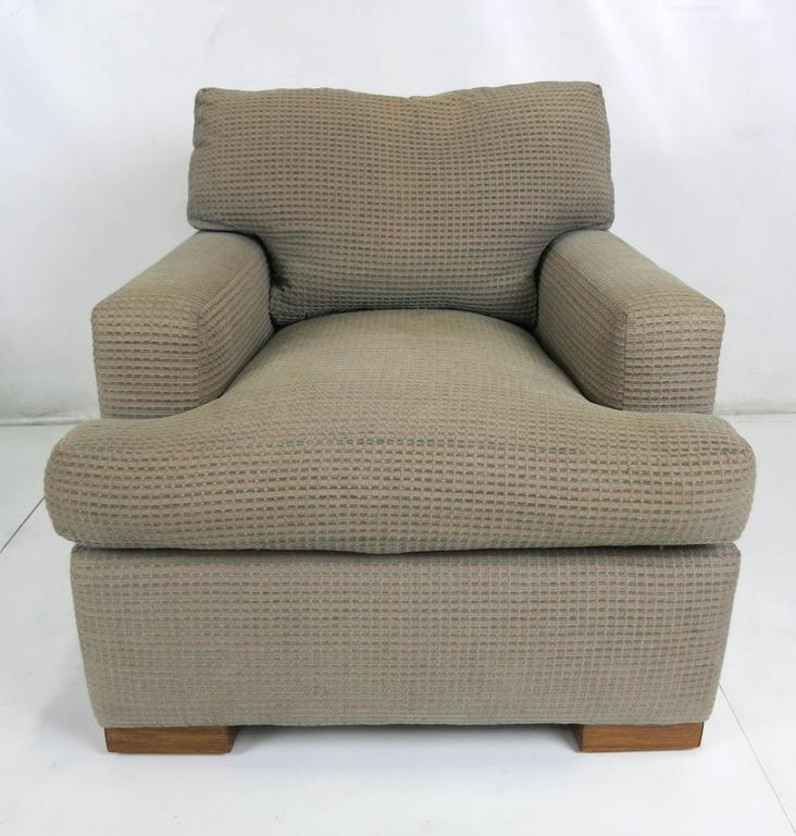 Handsome Pair Of Clic Jean Michel Frank Style Lounge Chairs By The Venerable A