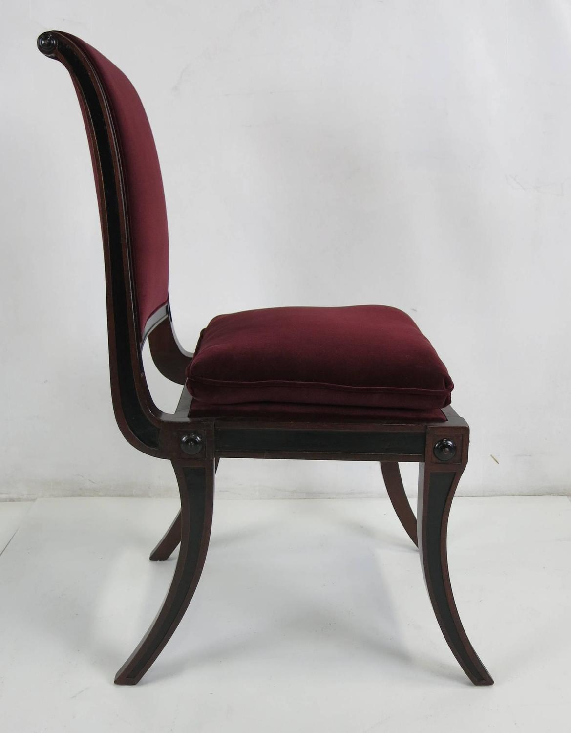 Set Of Four Regency Style Dining Chairs By Baker Furniture For Sale At 1stdibs