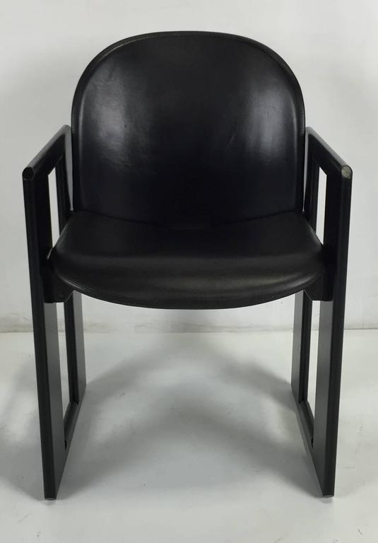 Leather Dining Arm Chairs