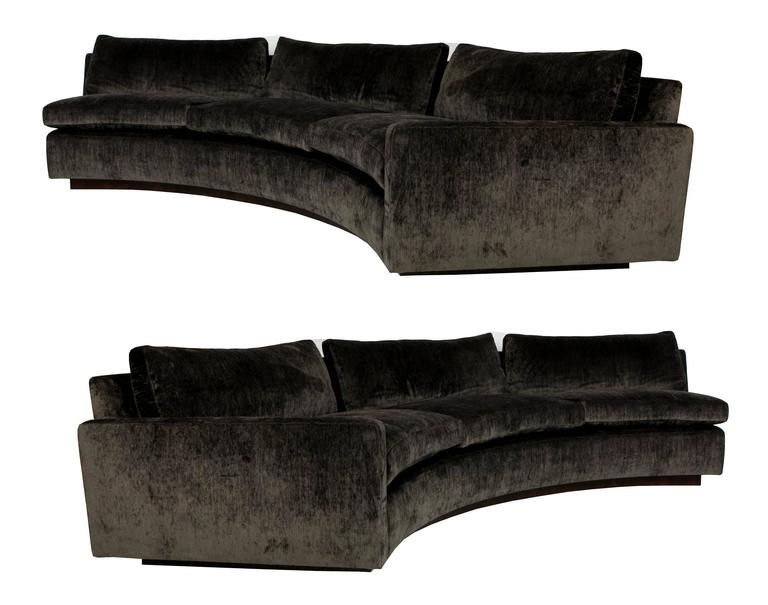 Large Half Circle Sectional Sofa by Milo Baughman for Thayer Coggin 2  sc 1 st  1stDibs : semi circle sectional sofa - Sectionals, Sofas & Couches