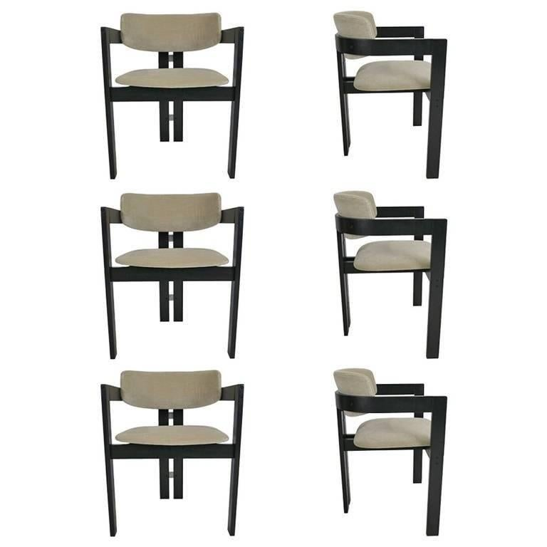 Six Italian Modern Dining Chairs For Sale