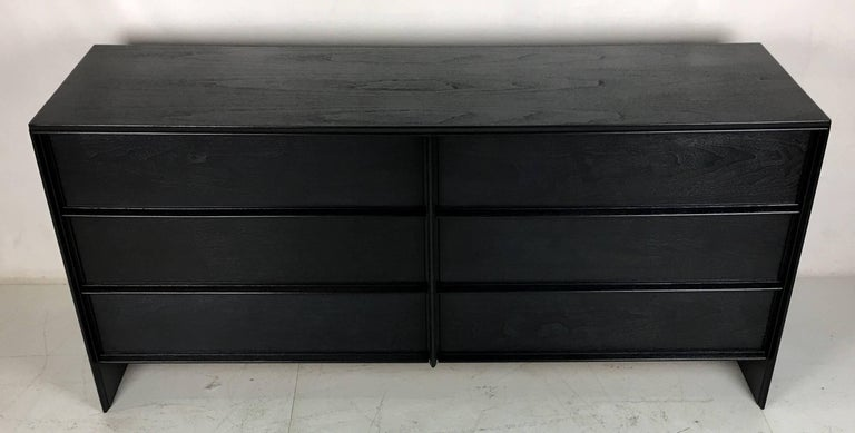 Mid-Century Modern Charcoal Lacquered Low Dresser by T.H. Robsjohn-Gibbings For Sale