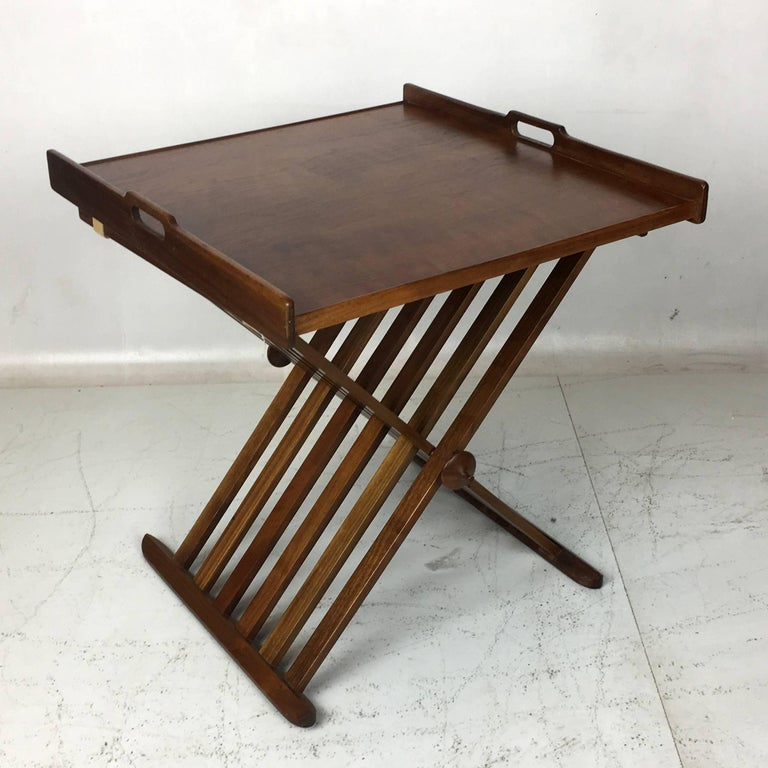 Pair of Walnut Tray Style Side Tables by Kipp Stewart 6