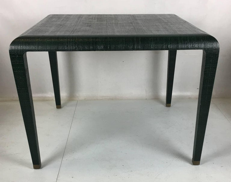 Exceptional Raffia Clad Games Table by Harrison Van Horn For Sale 1