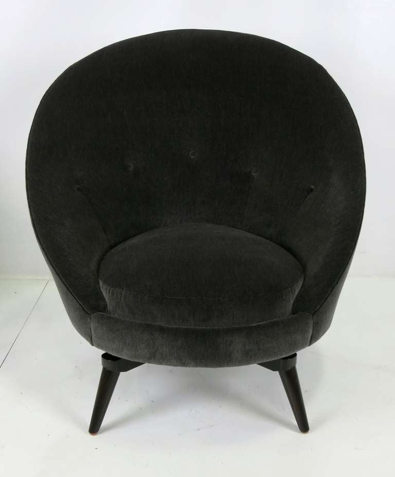 Modern Pair of Royere Style Swivel Egg Chairs For Sale