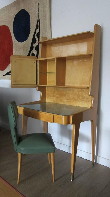 Italian 1950s Gio Ponti Style Upright Desk with Chair. 8