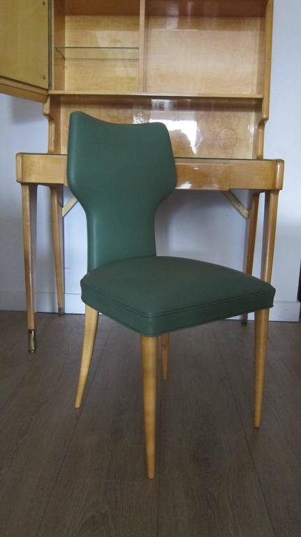 Mid-Century Modern Italian 1950s Gio Ponti Style Upright Desk with Chair. For Sale & Italian 1950s Gio Ponti Style Upright Desk with Chair. at 1stdibs