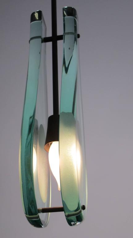 Mid-Century Modern Italian Modern Glass Pendant ,Max Ingrand for Fontana Arte For Sale