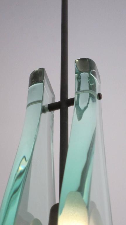Italian Modern Glass Pendant ,Max Ingrand for Fontana Arte In Excellent Condition For Sale In Miami, FL