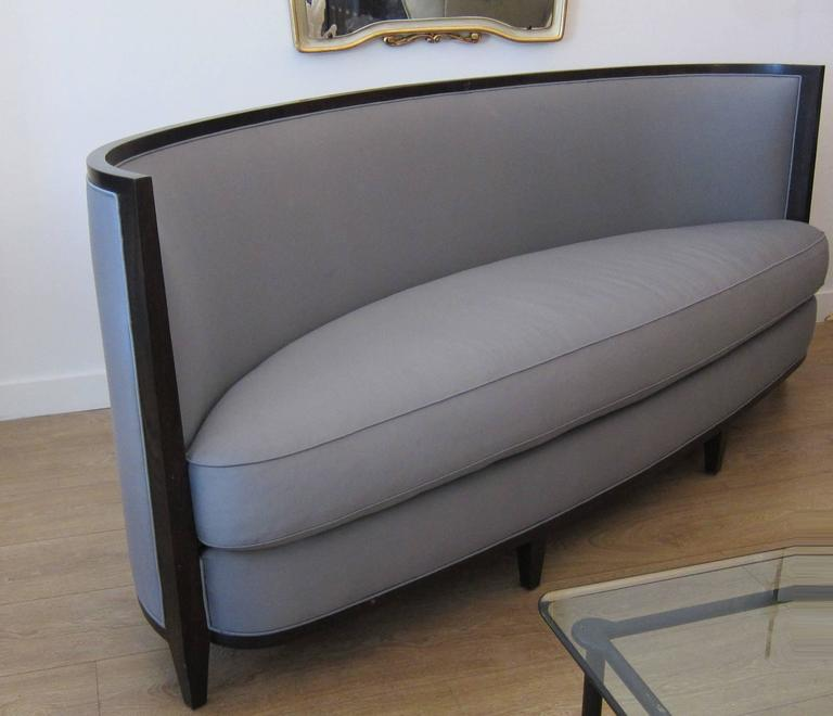 A Large Pair Of Crescent Moon Sofas By Andree Putman For Ralph Pucci. Solid  Stained