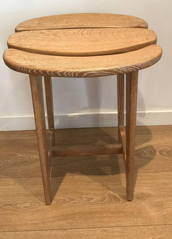 Set of Three Bar Stools by Guillerme et Chambron 2
