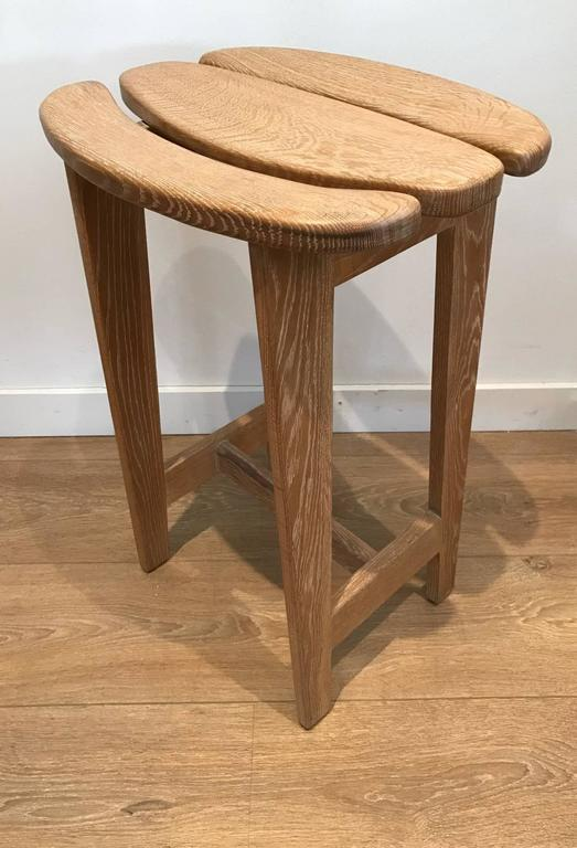 Set of Three Bar Stools by Guillerme et Chambron 4