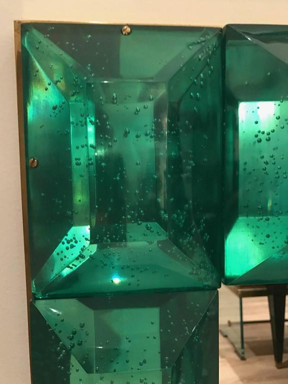 Emerald Green Murano Glass Framed Mirror 4