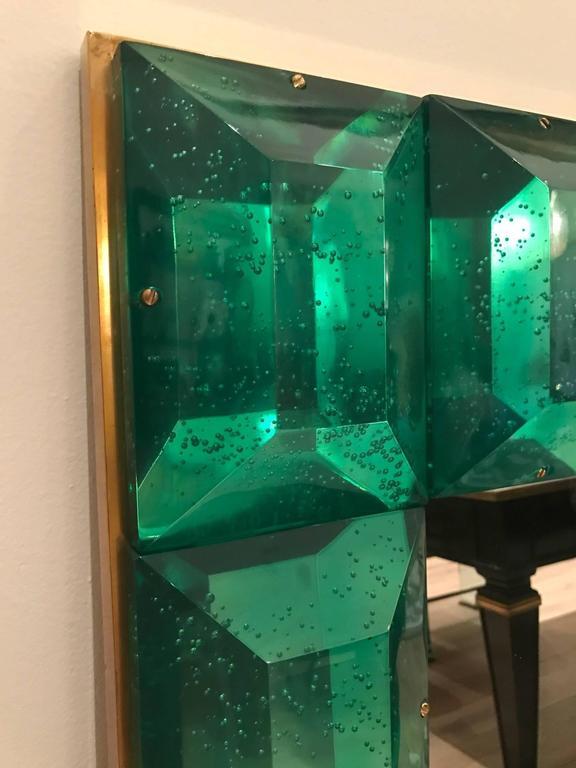 Emerald Green Murano Glass Framed Mirror 5