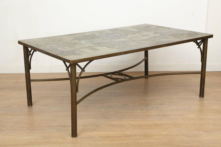 Etched Dining Table by Philip and Kelvin LaVerne