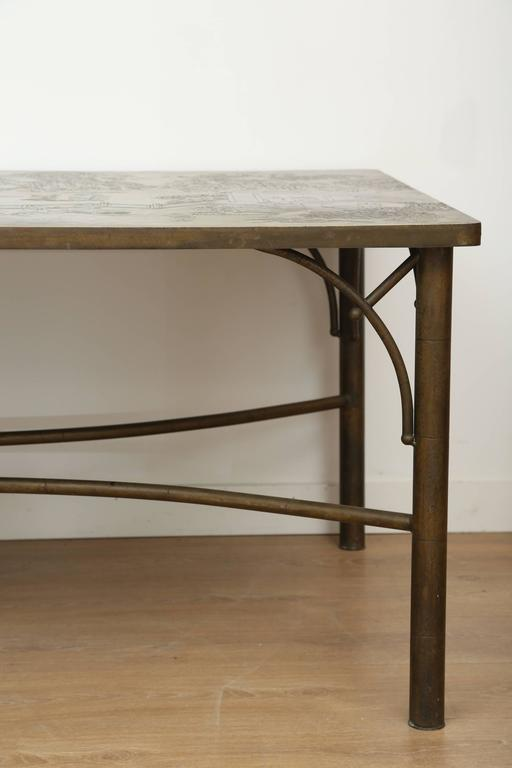 Bronze Dining Table by Philip and Kelvin LaVerne
