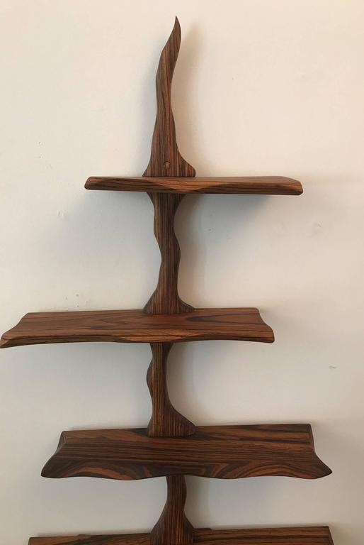 Free form studio craft wall hanging shelves at 1stdibs for Free hanging bookshelves