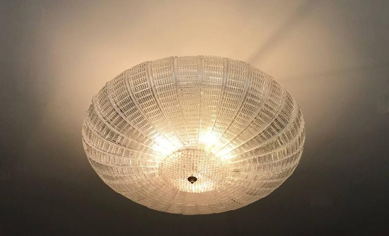 Large Flush Mounted Murano Glass Chandelier 5